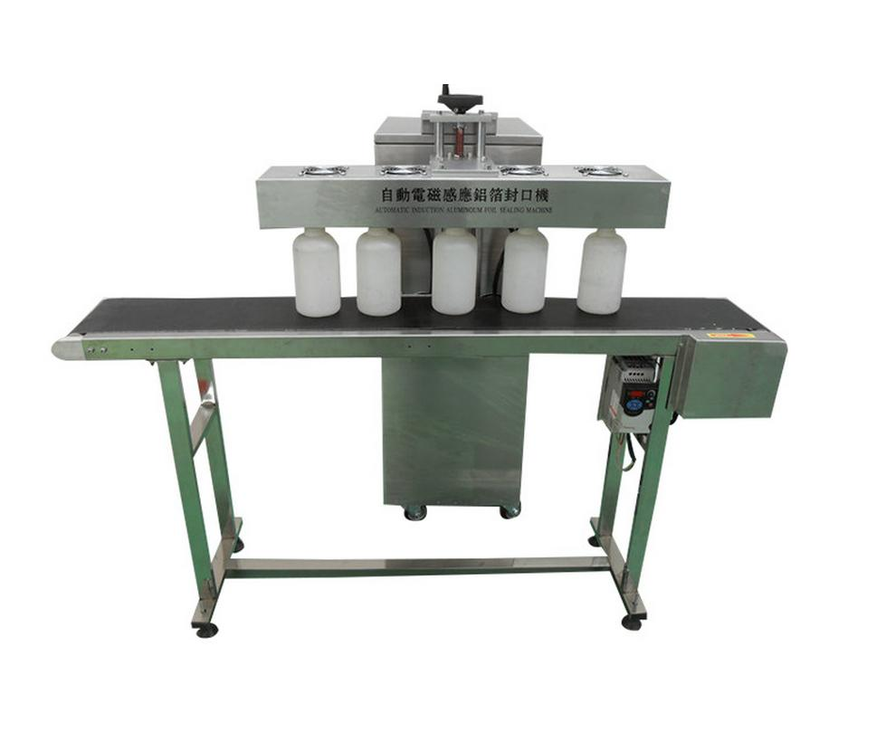 Induction aluminium film sealing machine